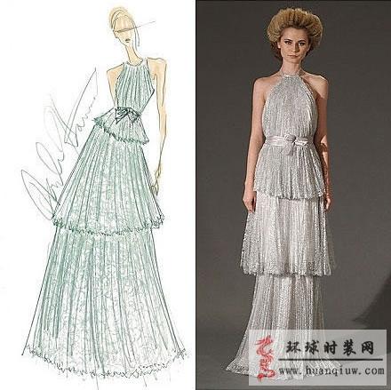 手绘时装周创意礼服