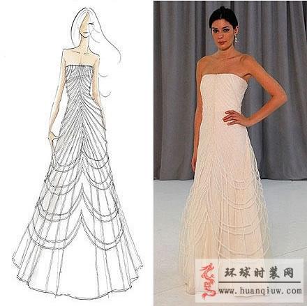 婚纱手绘设计图_20121316