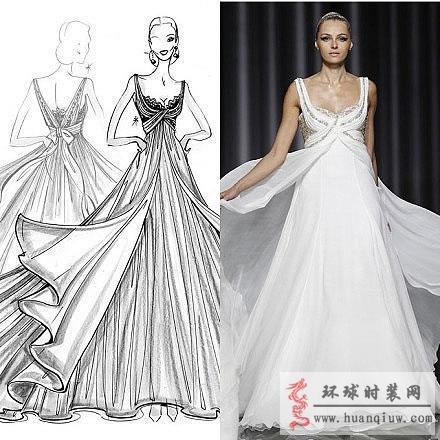 婚纱手绘设计图_20121318