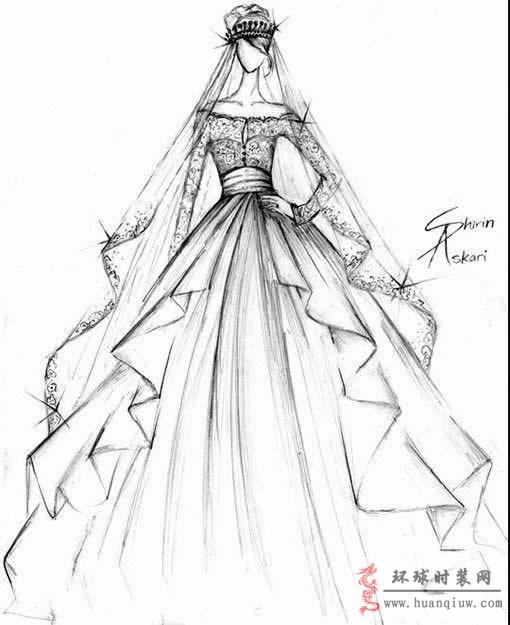 婚纱手绘设计图_20121328