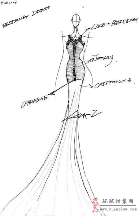 婚纱手绘设计图_20121329 - 时装设计师作品-时装周
