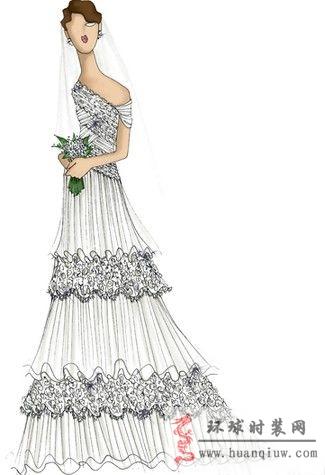 婚纱手绘设计图_20124532 - 时装设计师作品-时装周