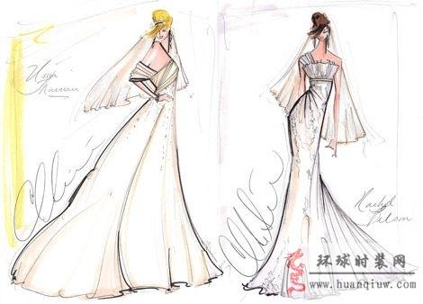 婚纱手绘设计图_20124546 - 时装设计师作品-时装周